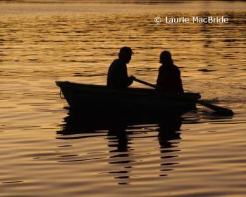 Rowers at Sunset, Hornby Island