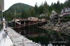 Dock and pier at ghost town of Butedale