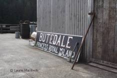 Old sign for Butedale, Princess Royal Island.