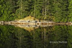 Shoreline reflection at Small Inlet