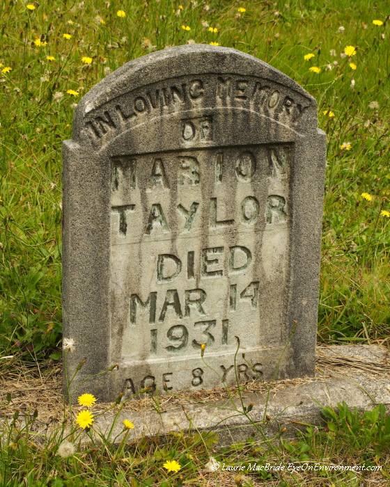 Gravestone of a child