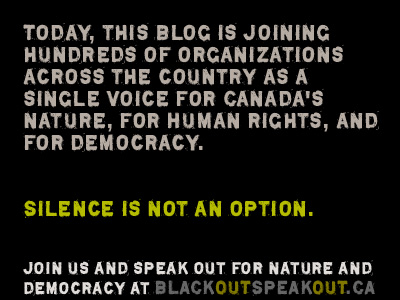 Speak out for nature and democracy