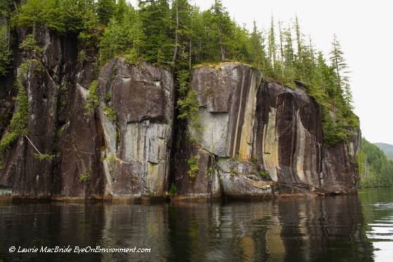 Cliff with pictograph, Alison Sound