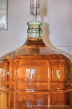 Clear wine in carboy