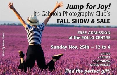 Poster for Gabriola Photo Club fall show