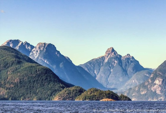 Coast Mountains from the water